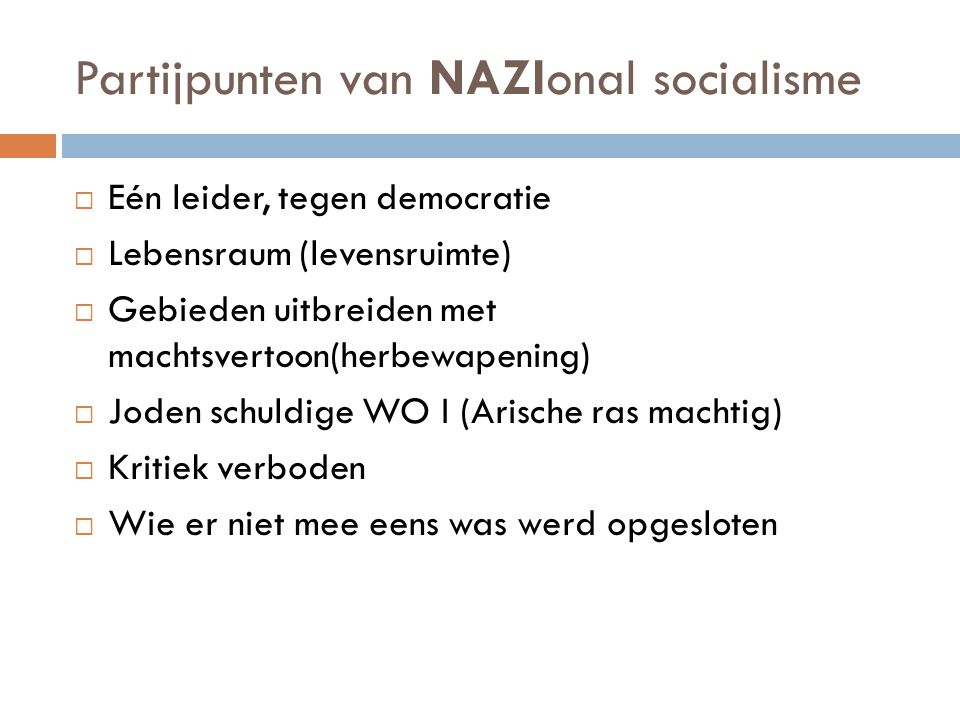 Partijpunten van NAZIonal socialisme