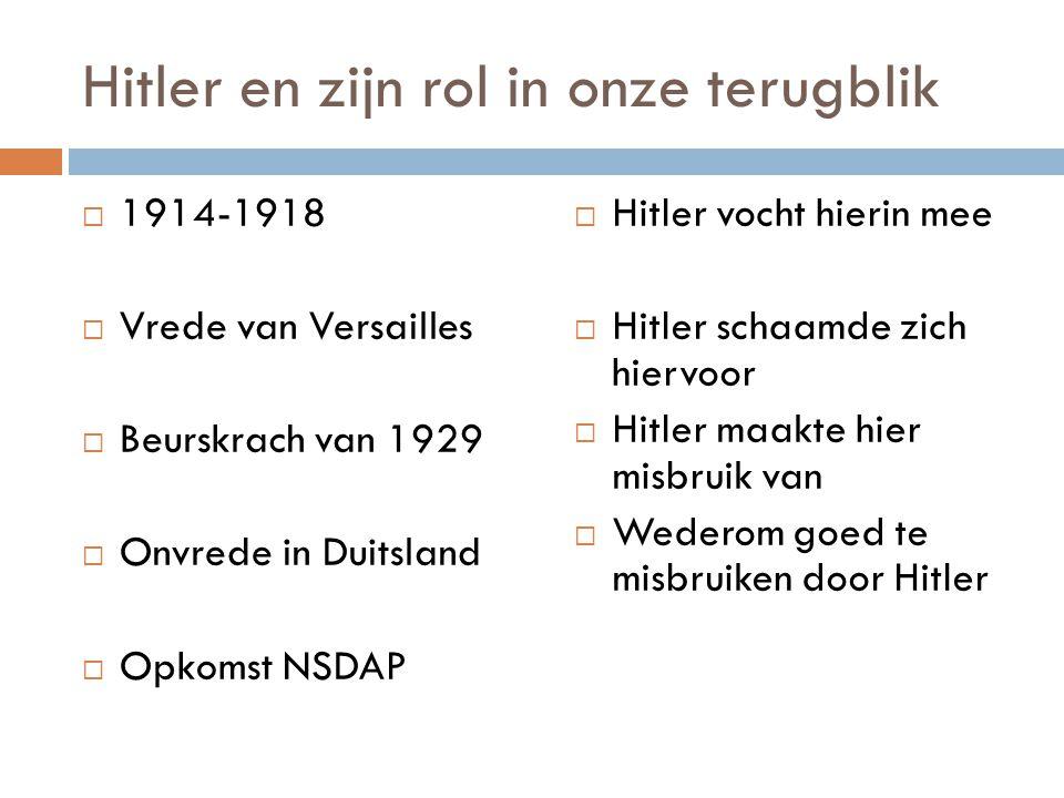Hitler en zijn rol in onze terugblik