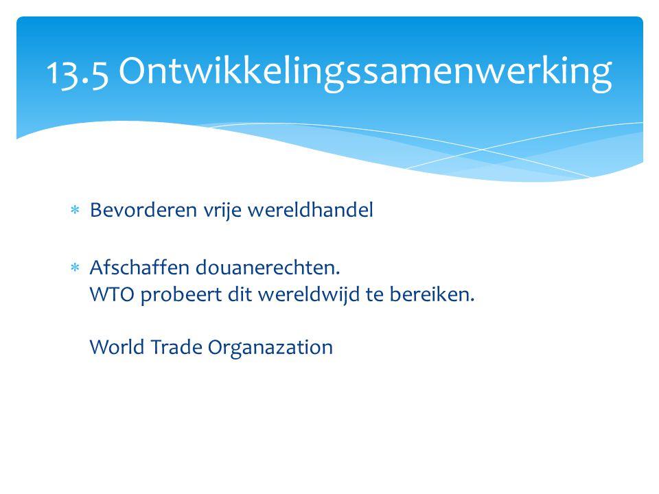 13.5 Ontwikkelingssamenwerking