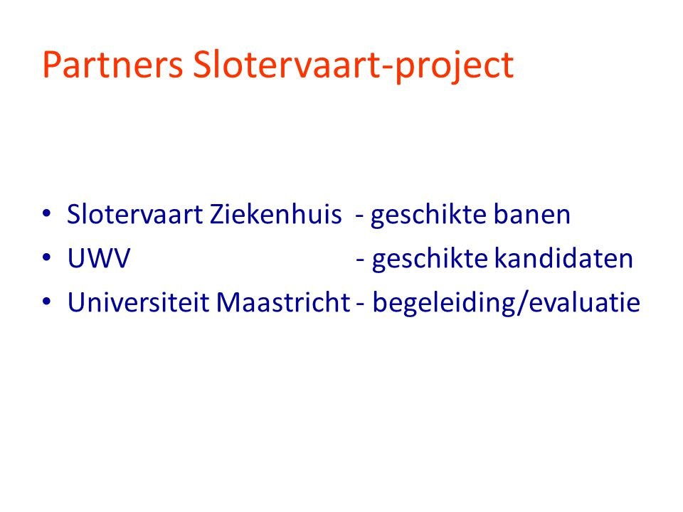 Partners Slotervaart-project