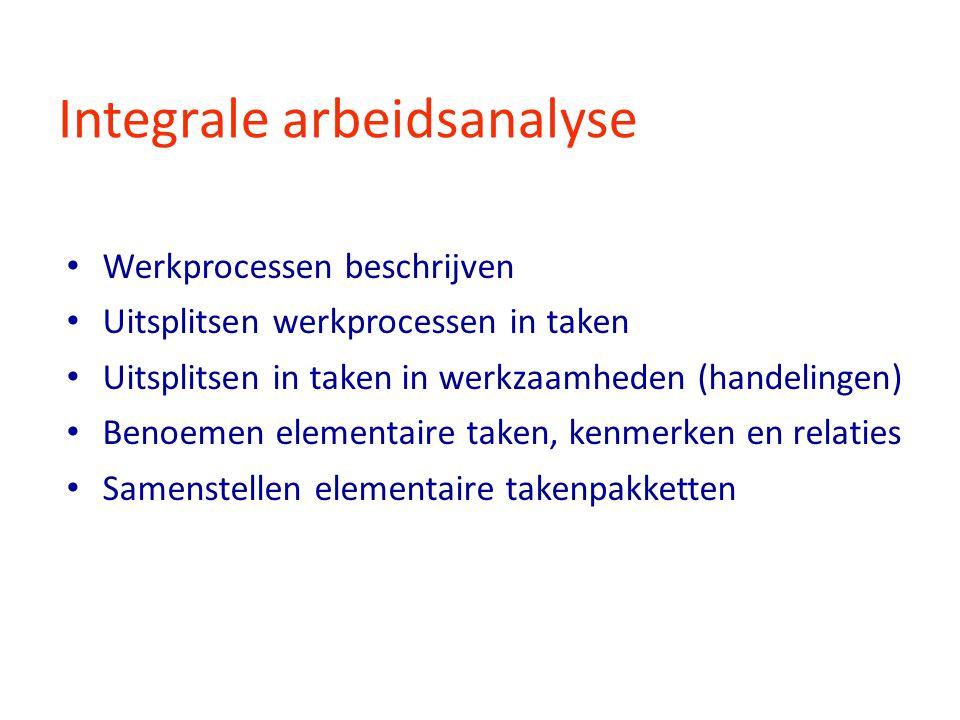 Integrale arbeidsanalyse