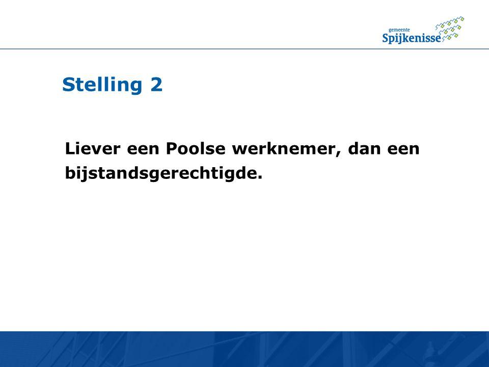 Stelling 2 Liever een Poolse werknemer, dan een bijstandsgerechtigde.