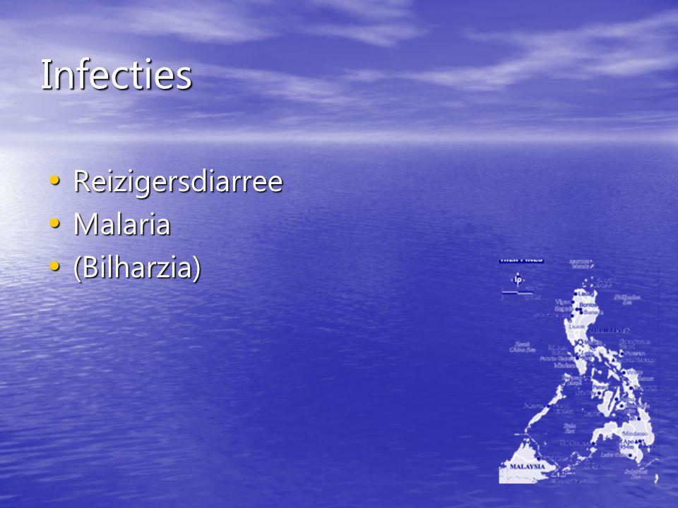 Infecties Reizigersdiarree Malaria (Bilharzia)