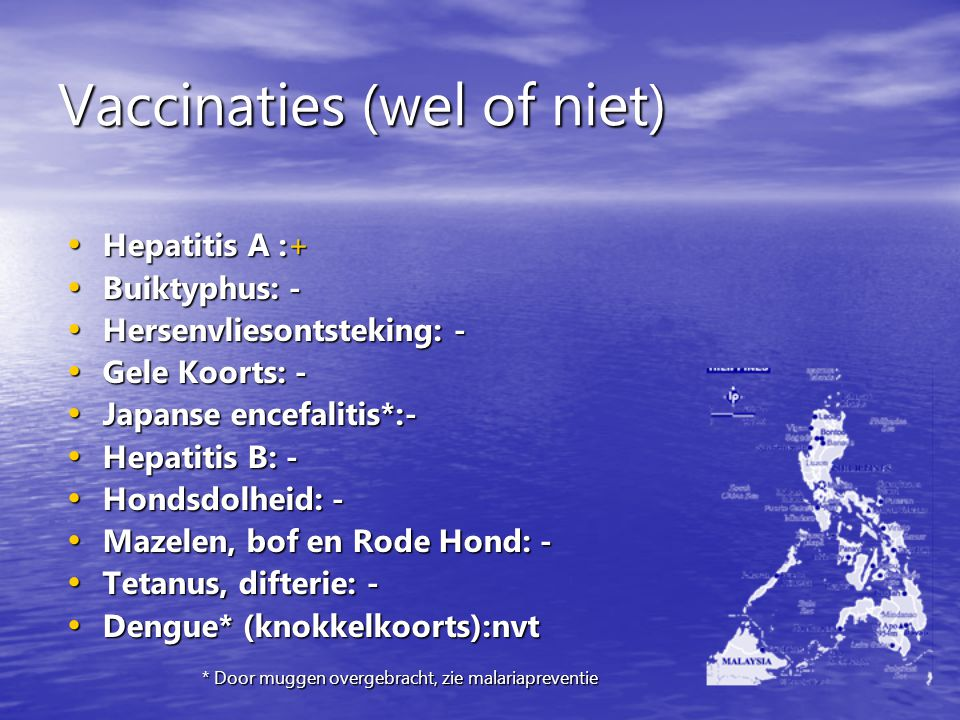 Vaccinaties (wel of niet)