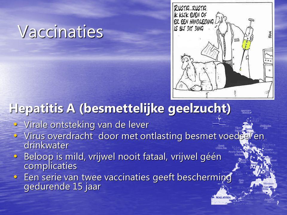Vaccinaties Hepatitis A (besmettelijke geelzucht)