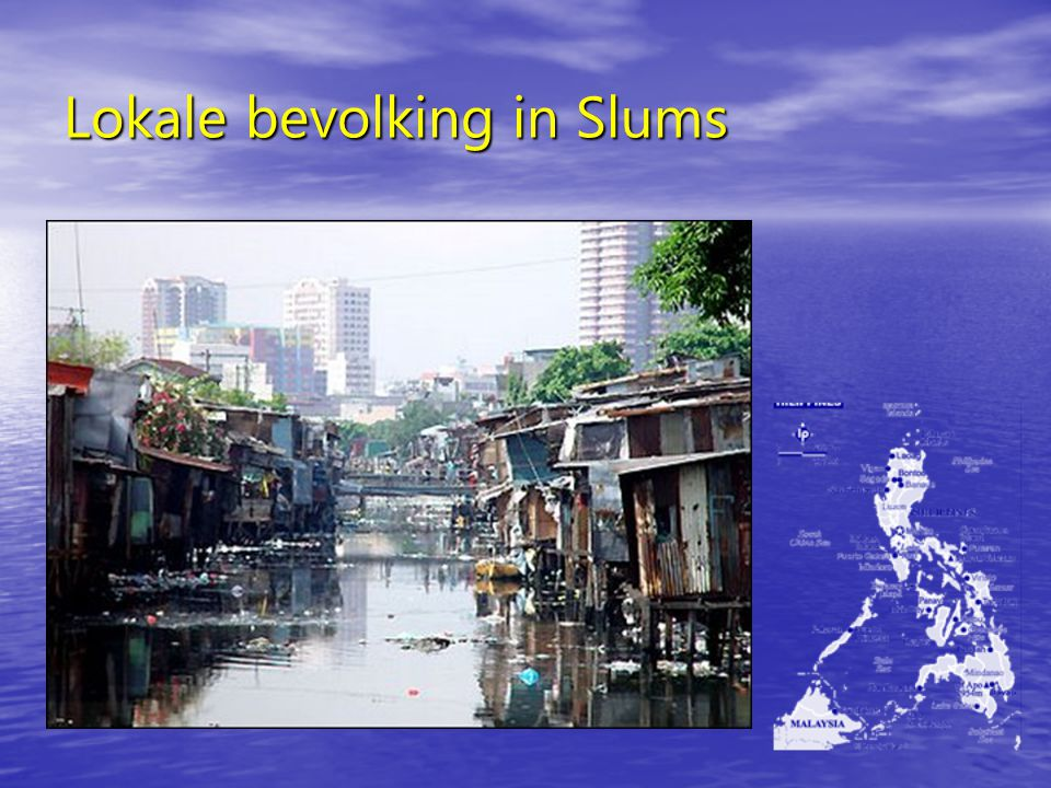 Lokale bevolking in Slums