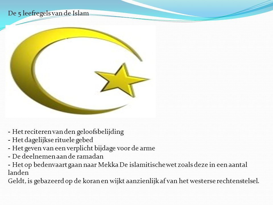 De 5 leefregels van de Islam