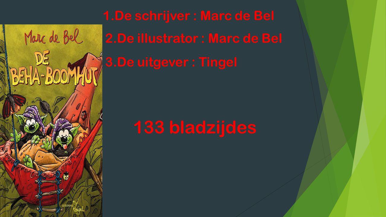133 bladzijdes 1.De schrijver : Marc de Bel