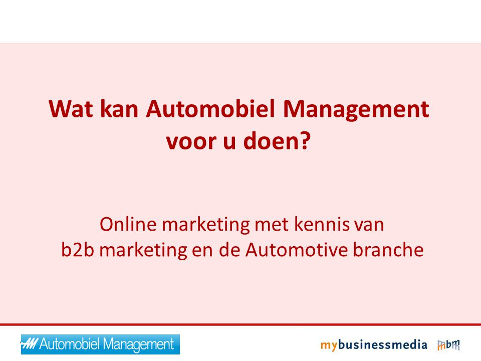 Wat kan Automobiel Management
