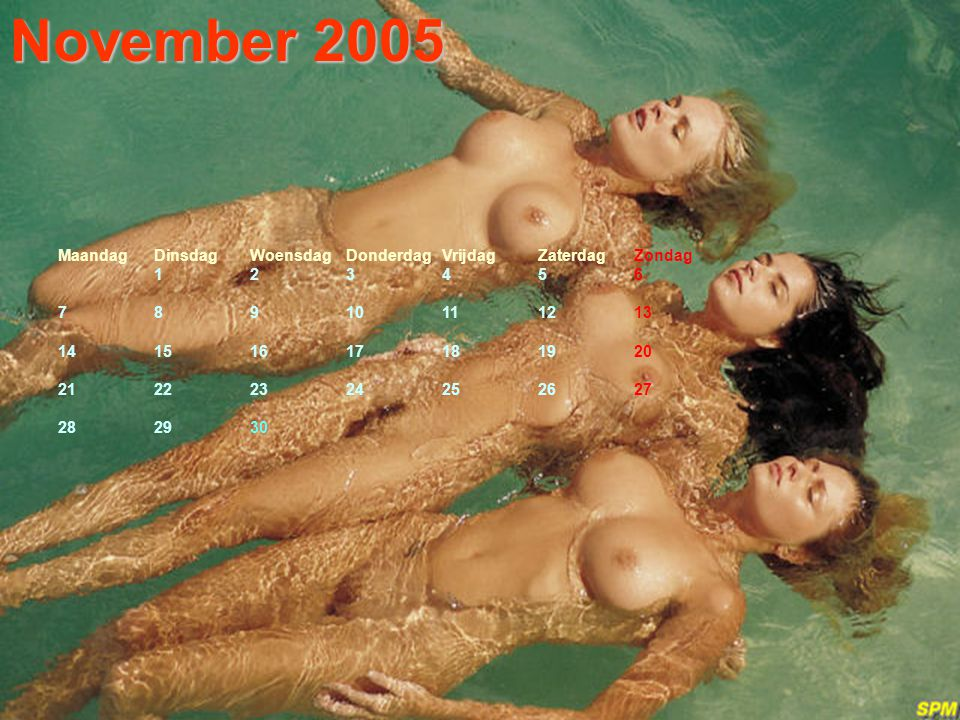 November 2005 Maandag Dinsdag Woensdag Donderdag Vrijdag Zaterdag Zondag. 1 2 3 4 5 6. 7 8 9 10 11 12 13.