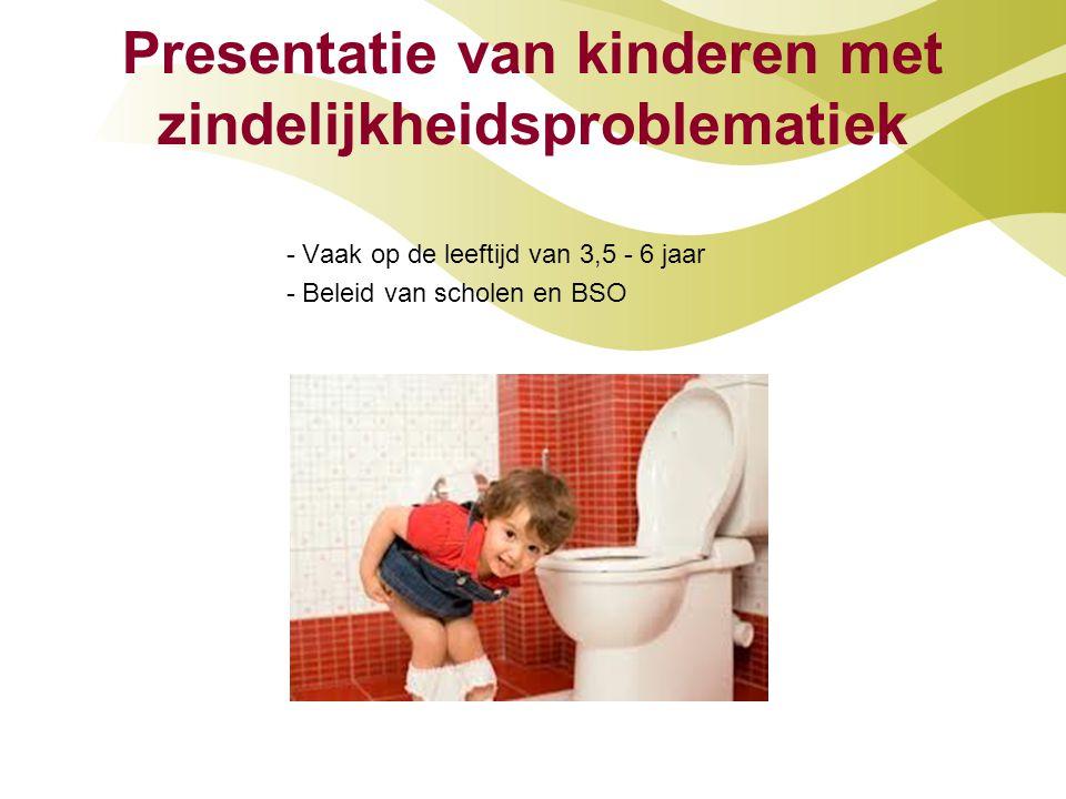 Presentatie van kinderen met zindelijkheidsproblematiek