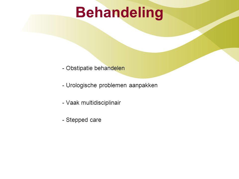 Behandeling - Obstipatie behandelen - Urologische problemen aanpakken