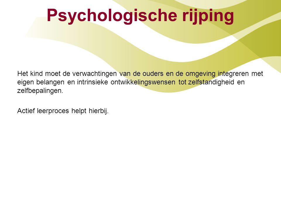 Psychologische rijping