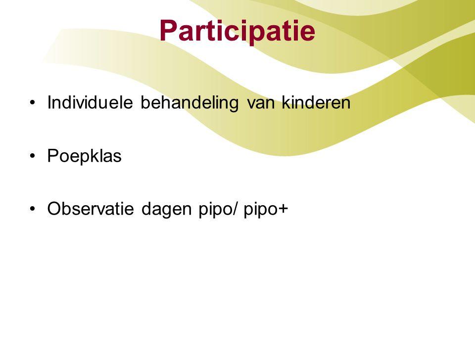 Participatie Individuele behandeling van kinderen Poepklas