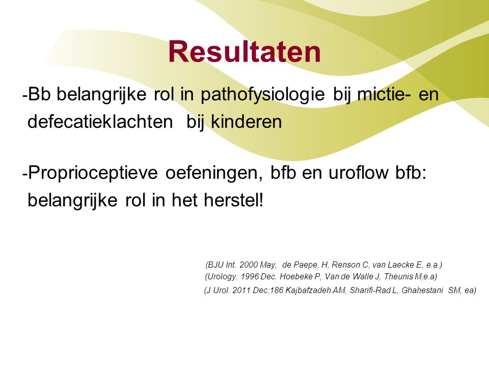 (BJU Int. 2000 May, de Paepe, H, Renson C, van Laecke E, e.a.)