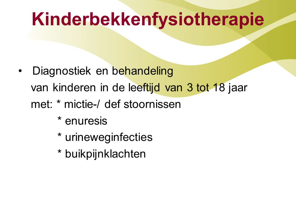 Kinderbekkenfysiotherapie