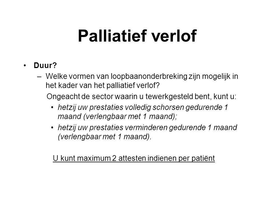 Palliatief verlof Duur