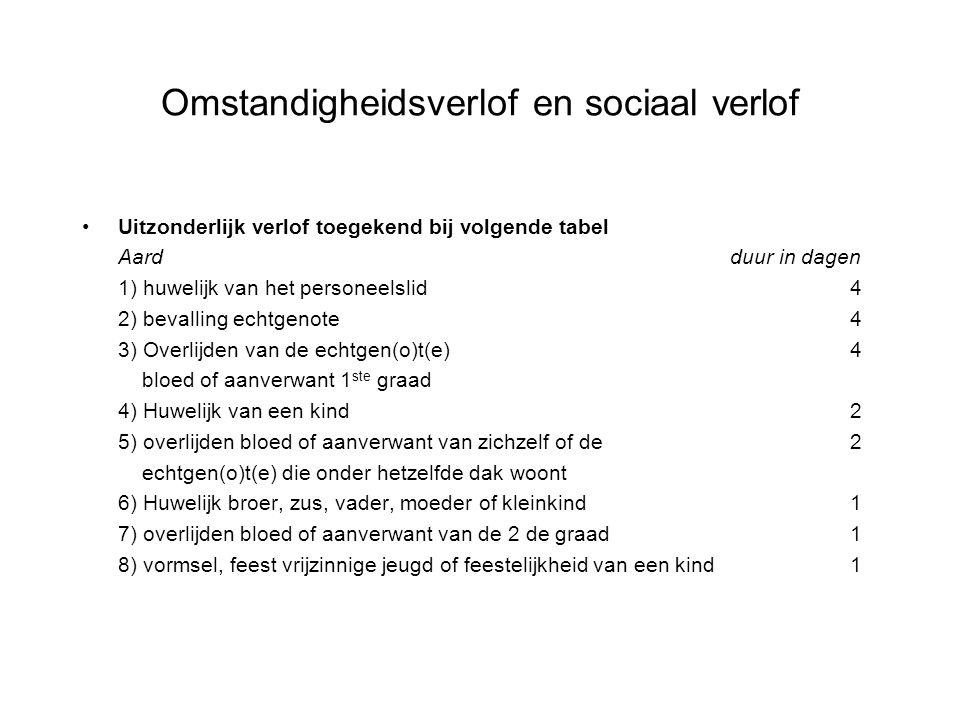 Omstandigheidsverlof en sociaal verlof