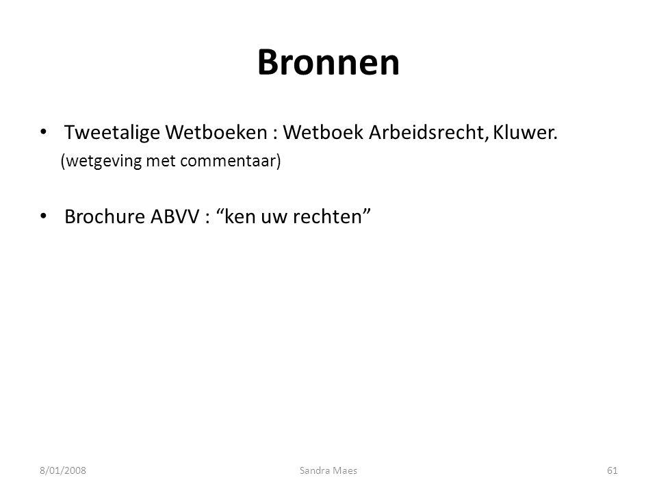 Bronnen Tweetalige Wetboeken : Wetboek Arbeidsrecht, Kluwer.