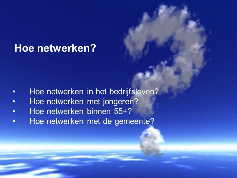 Hoe netwerken Hoe netwerken in het bedrijfsleven