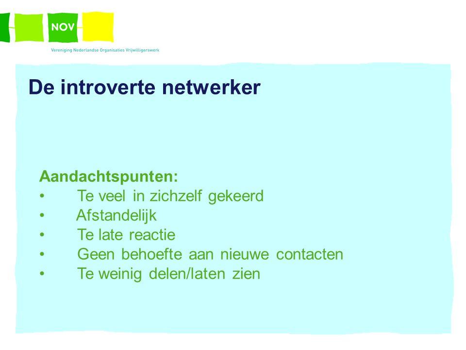 De introverte netwerker