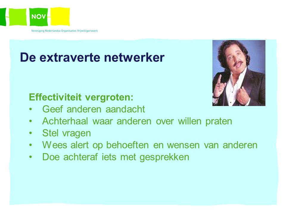 De extraverte netwerker