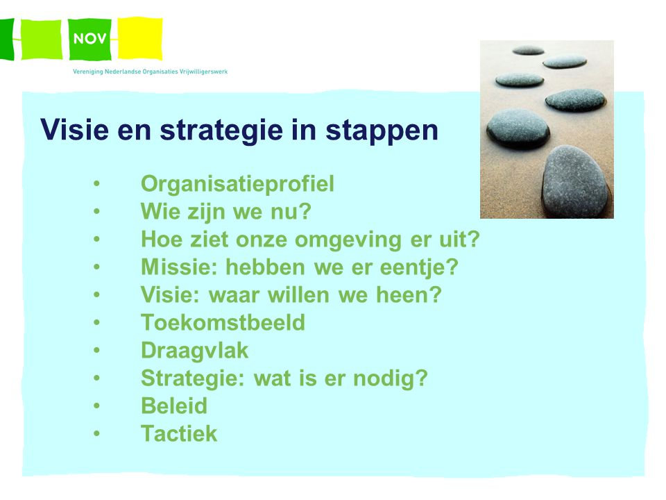 Visie en strategie in stappen