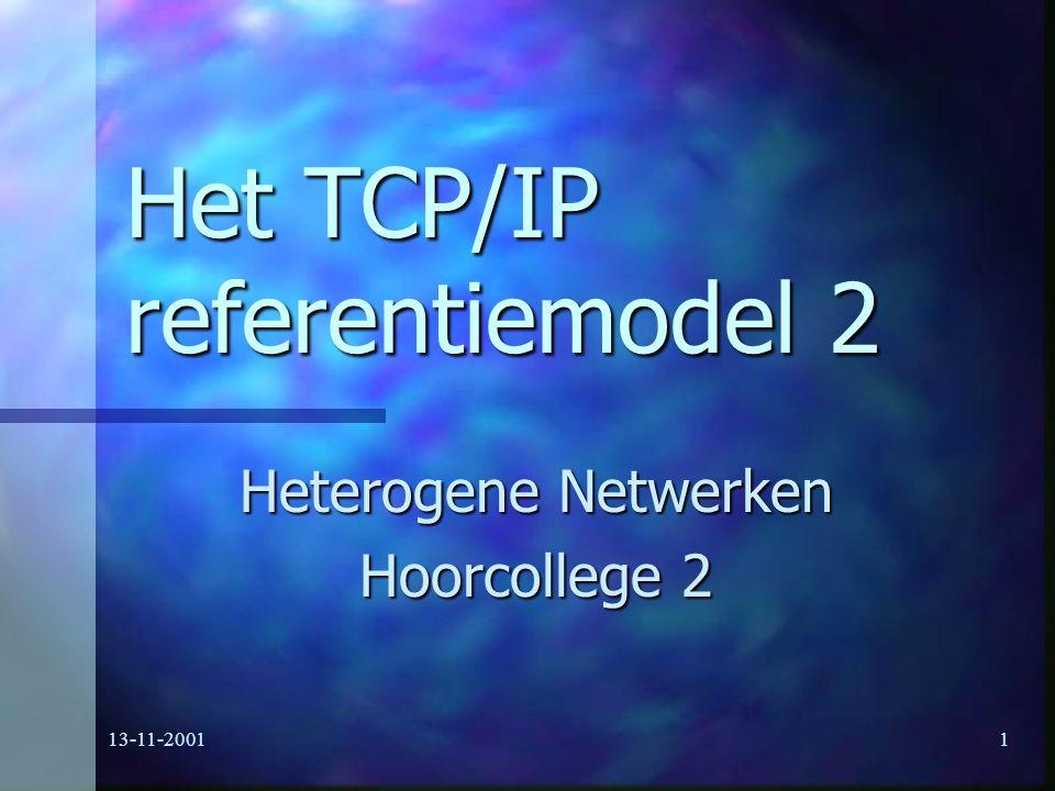 Het TCP/IP referentiemodel 2