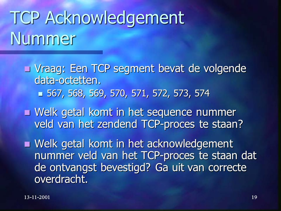 TCP Acknowledgement Nummer