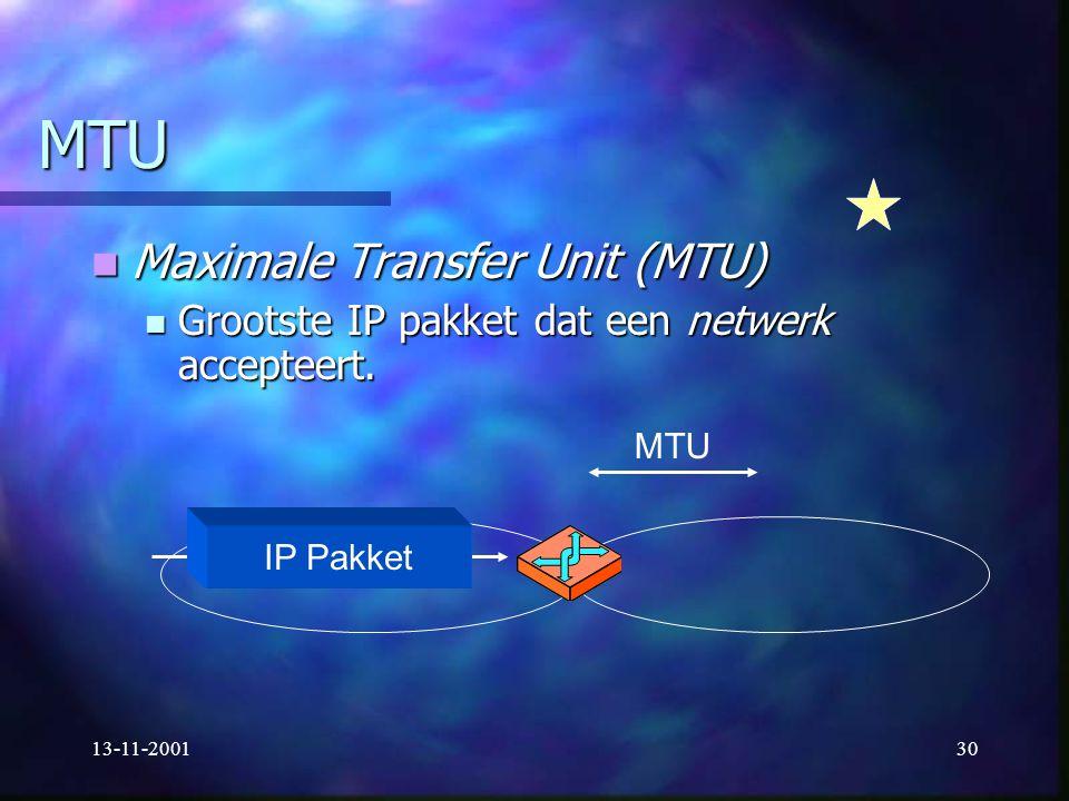 MTU Maximale Transfer Unit (MTU)