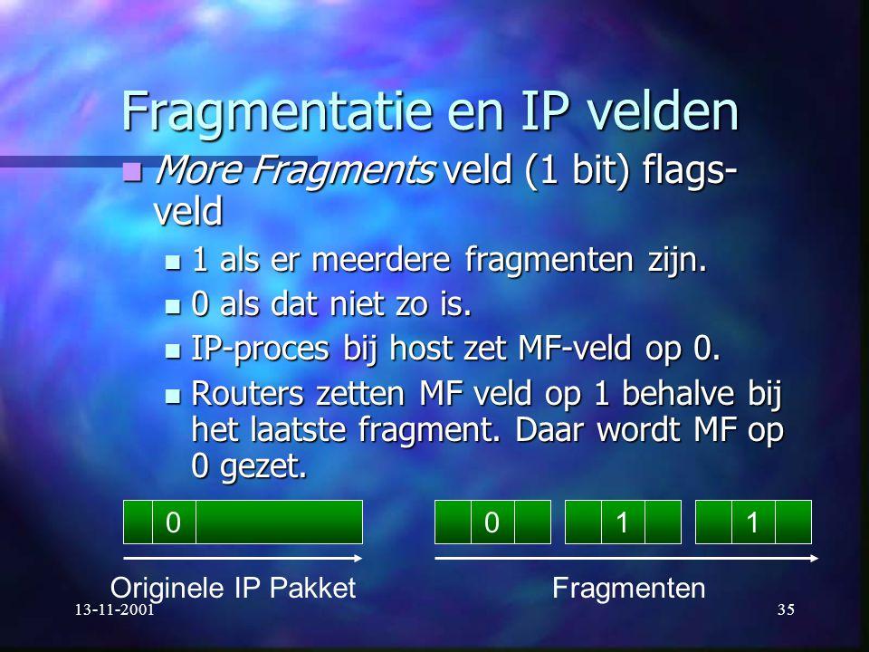 Fragmentatie en IP velden
