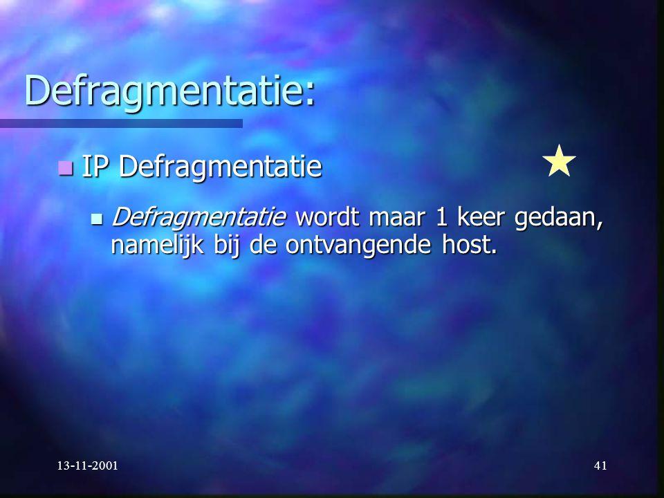Defragmentatie: IP Defragmentatie