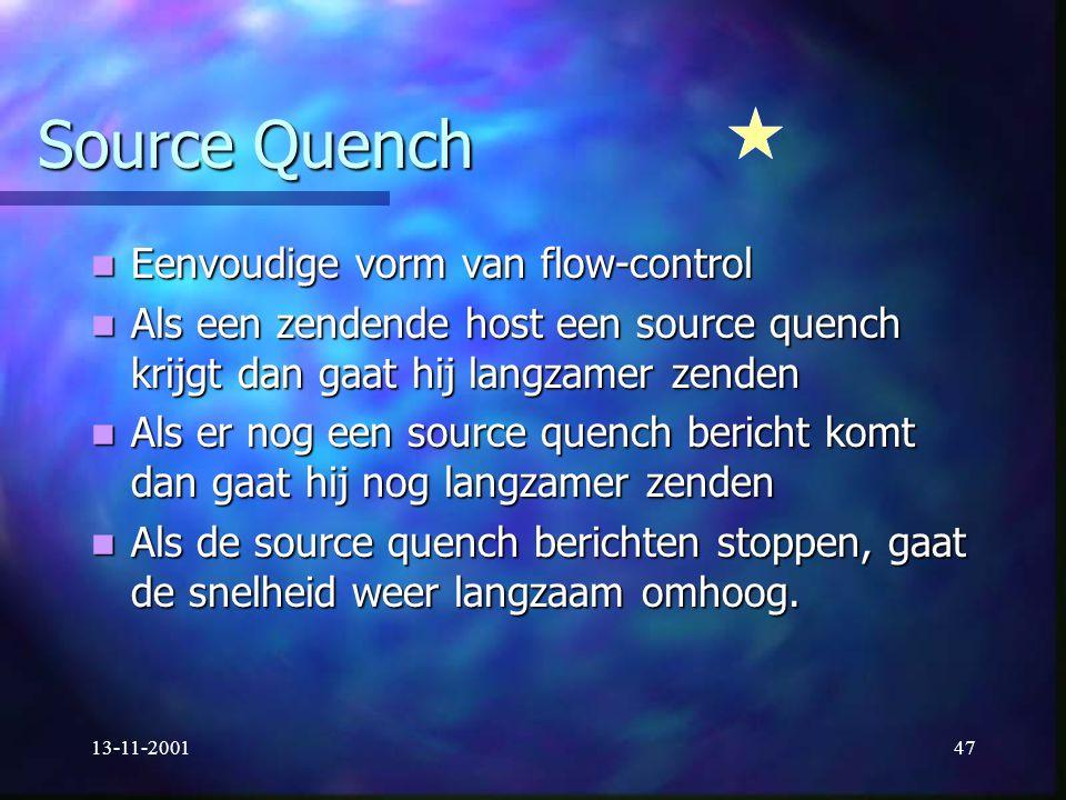 Source Quench Eenvoudige vorm van flow-control