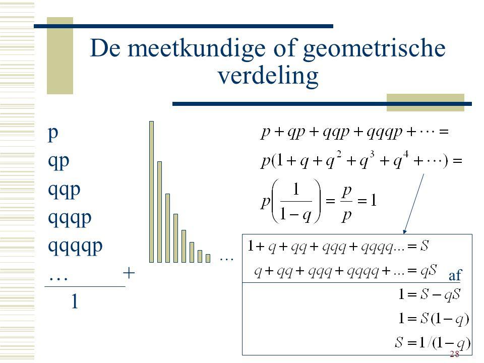 De meetkundige of geometrische verdeling