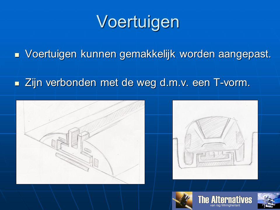 Voertuigen Voertuigen kunnen gemakkelijk worden aangepast.