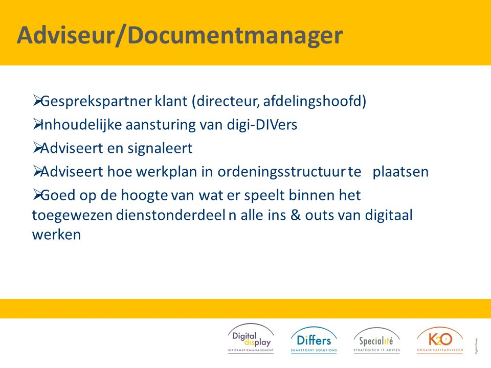 Adviseur/Documentmanager