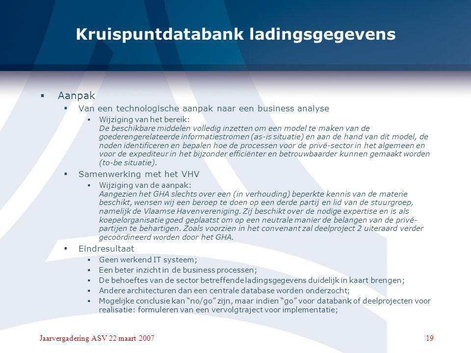 Kruispuntdatabank ladingsgegevens