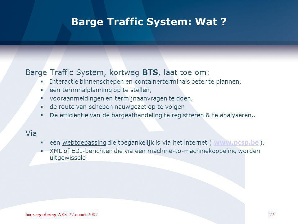 Barge Traffic System: Wat