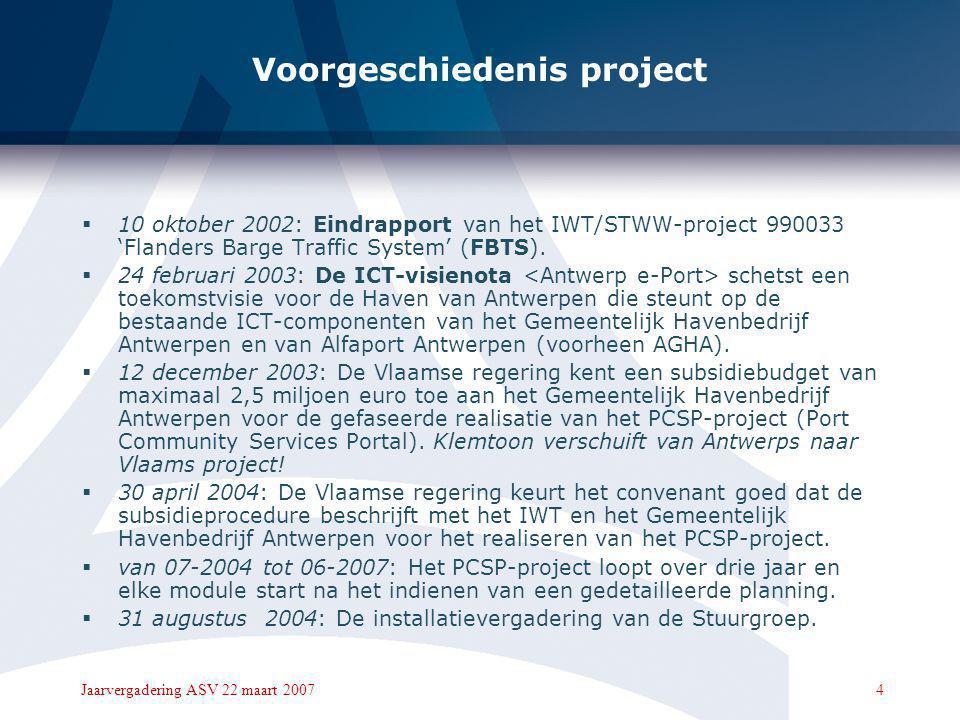 Voorgeschiedenis project