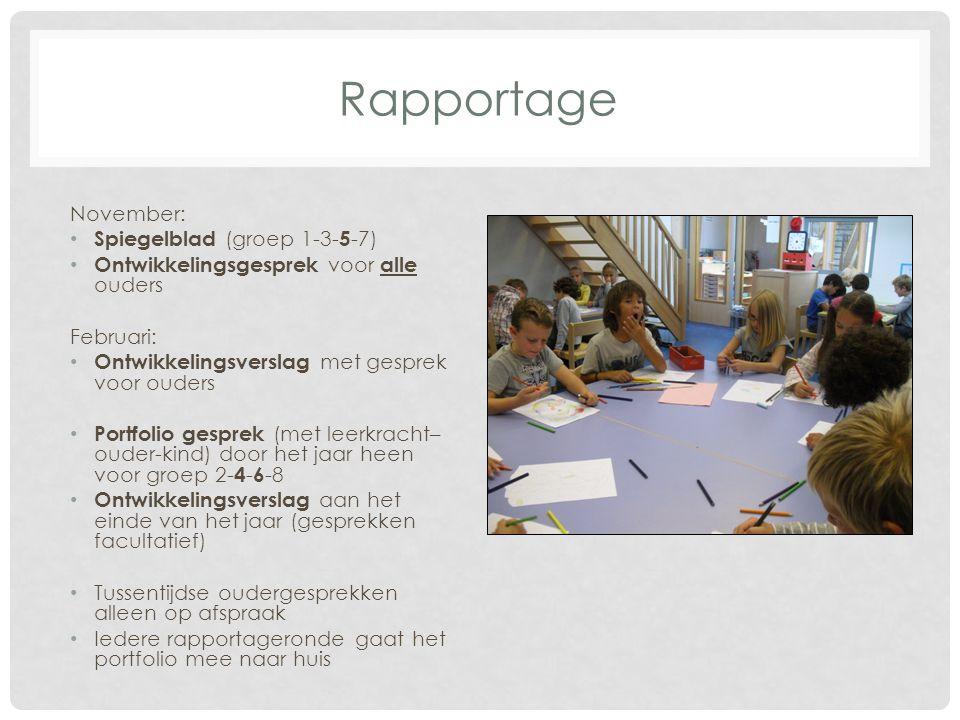 Rapportage November: Spiegelblad (groep 1-3-5-7)
