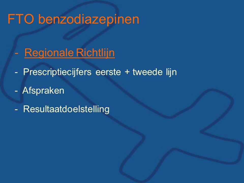 FTO benzodiazepinen - Regionale Richtlijn