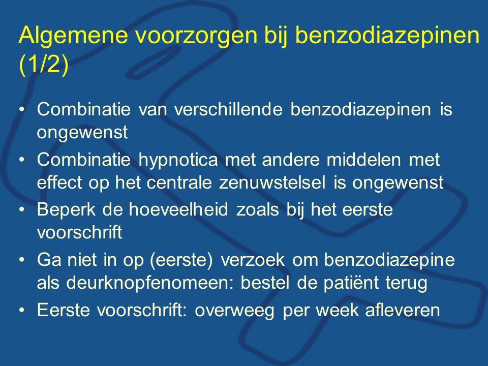 Algemene voorzorgen bij benzodiazepinen (1/2)