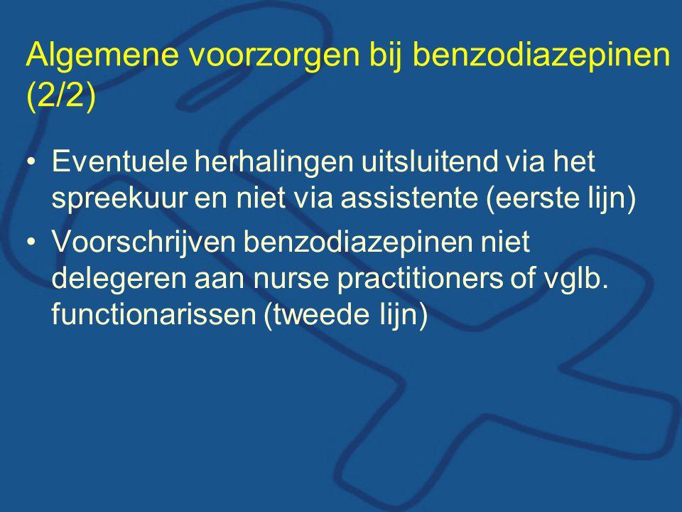 Algemene voorzorgen bij benzodiazepinen (2/2)