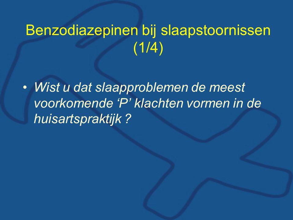 Benzodiazepinen bij slaapstoornissen (1/4)