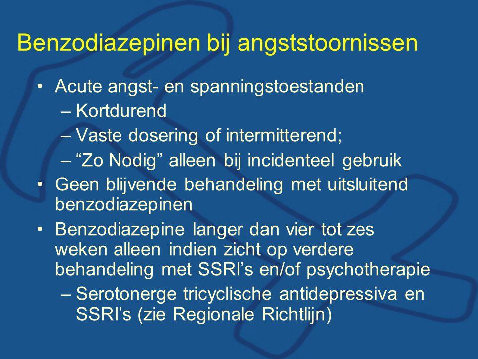 Benzodiazepinen bij angststoornissen