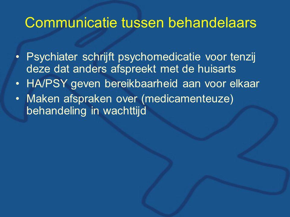 Communicatie tussen behandelaars
