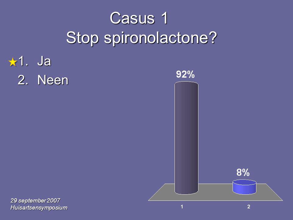 Casus 1 Stop spironolactone