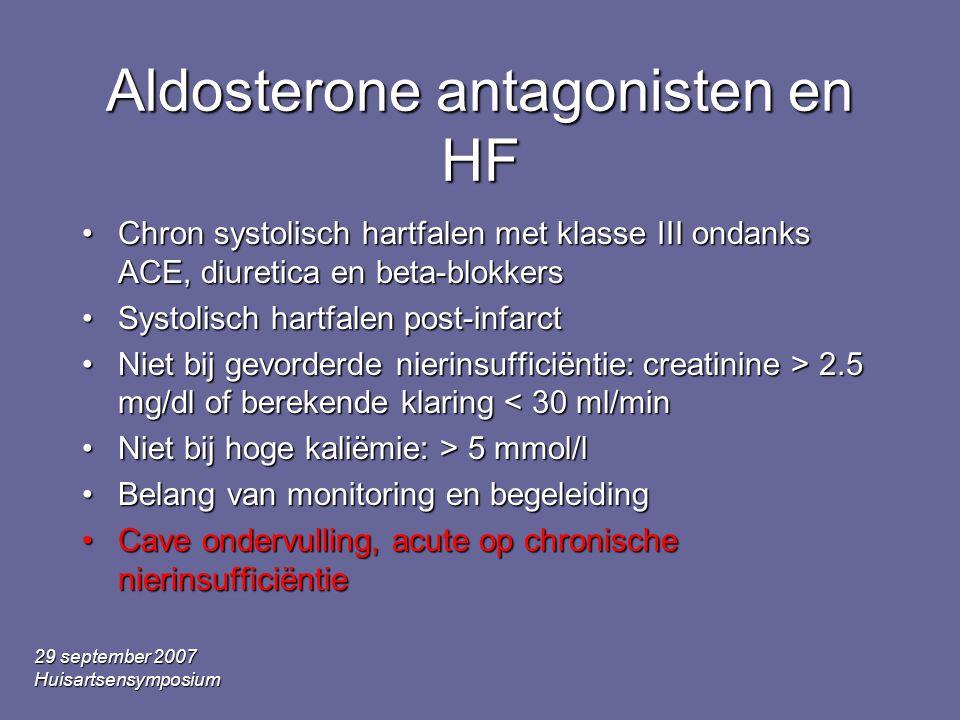 Aldosterone antagonisten en HF