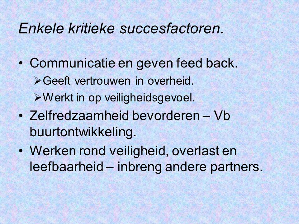 Enkele kritieke succesfactoren.