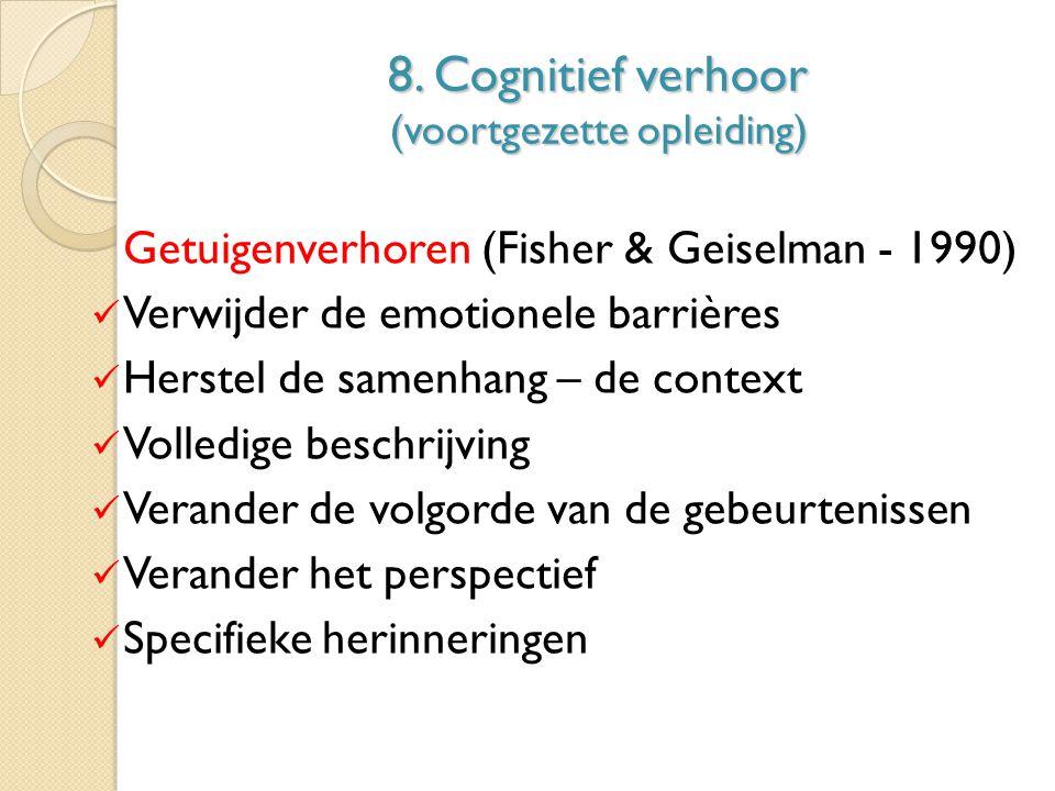 8. Cognitief verhoor (voortgezette opleiding)
